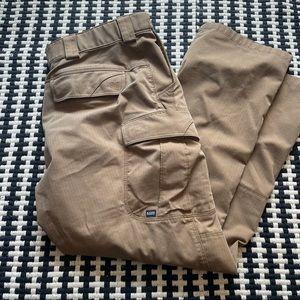 5.11 Tactical Men's Brown Khaki Cargo Pants